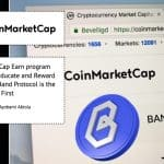 Coinmarketcap Earn program launches to Educate and Reward Enthusiasts: Band Protocol is the First