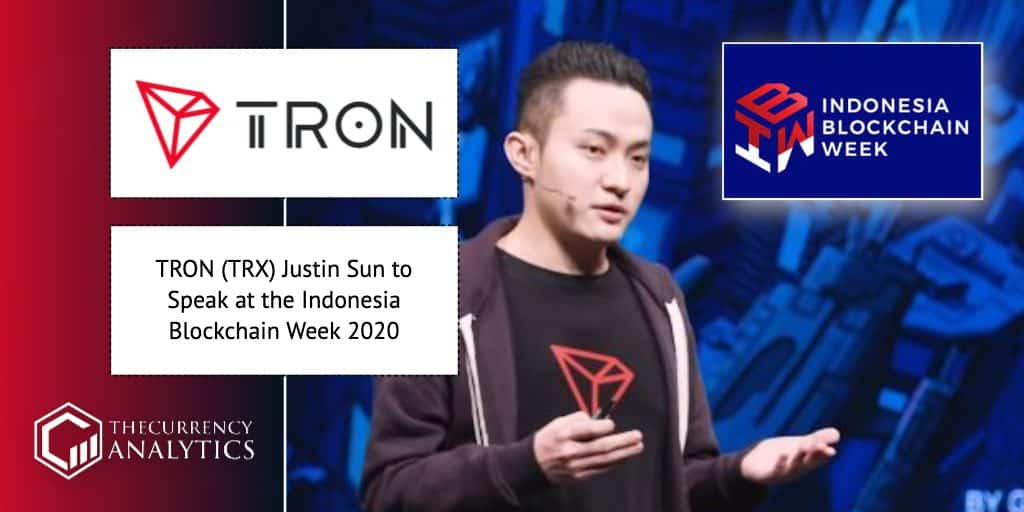 <bold>TRON</bold> (TRX) Justin Sun to Speak at the Indonesia Blockchain Week 2020