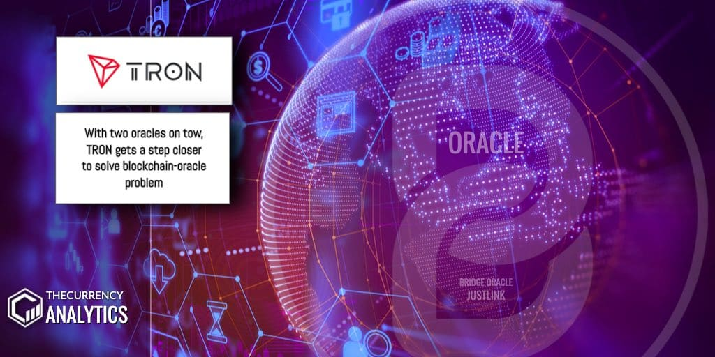 Tron Just link blockchain oracle